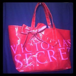 Victoria's Secret's Big Red Vinyl Tote